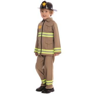 Dress Up America Boys KJ Polyester Firefighter Costume