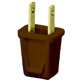 Leviton C30-00123-000 Brown Residentail Grade Straight Blade Non-Polarized Plug