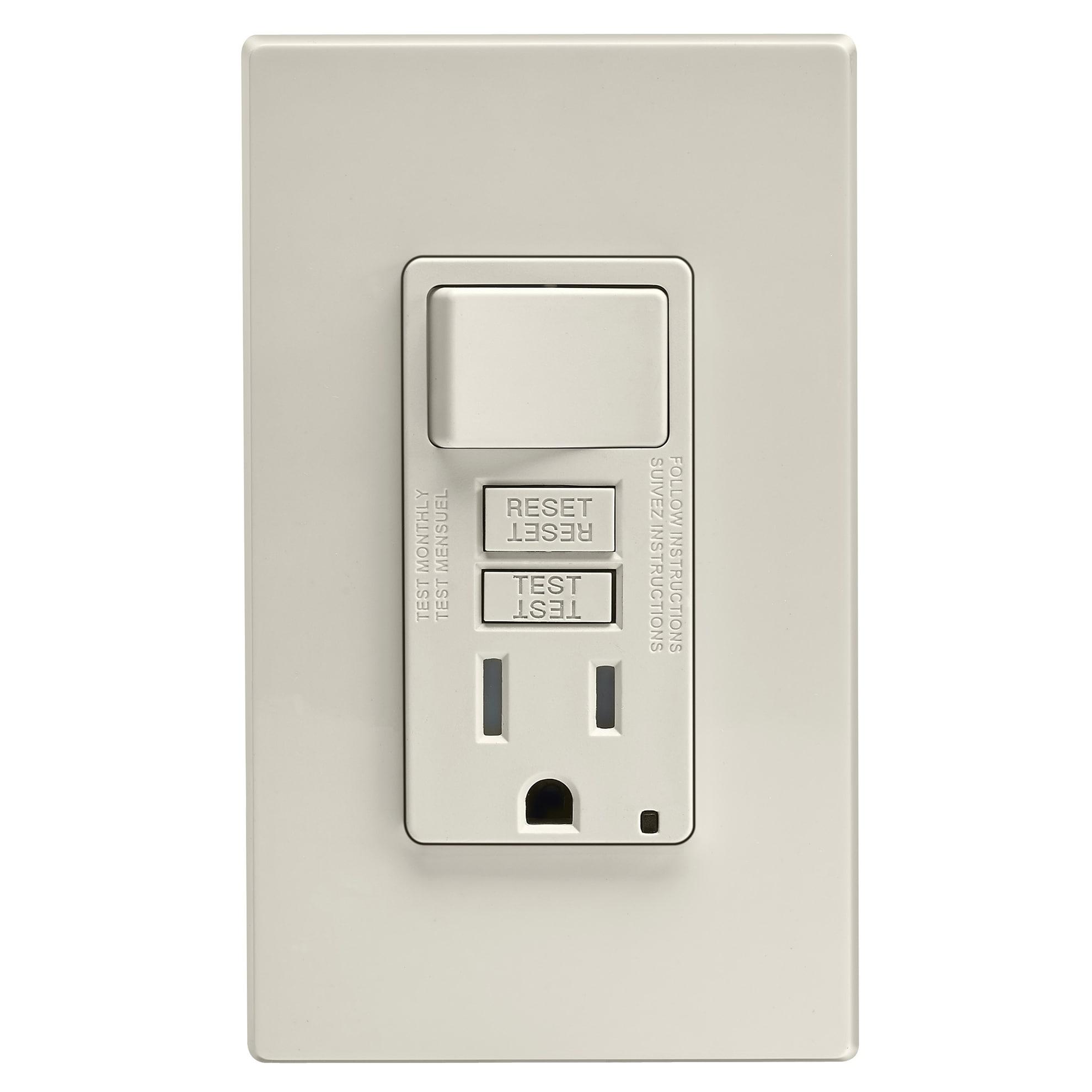 Leviton Gfci Receptacle 15 amps 5-15R 125 volts Light Alm...
