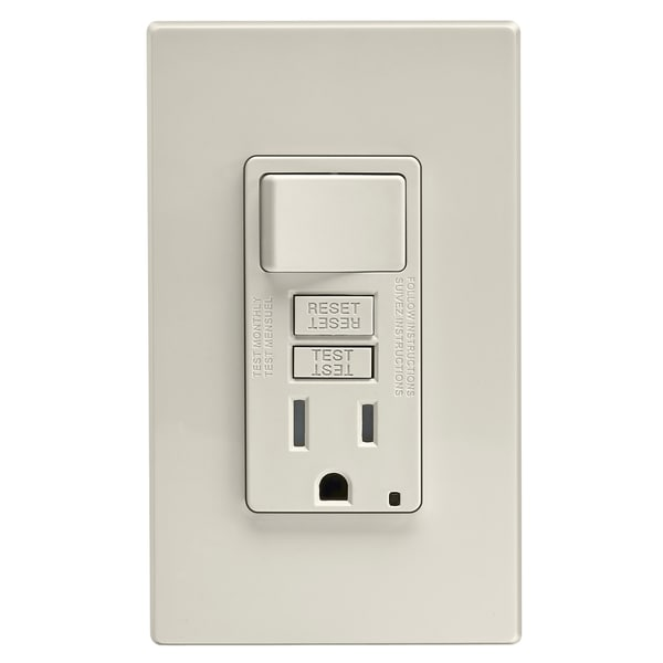 Leviton GFCI Receptacle 15 amps 5-15R 125 volts Light Almond - Free ...