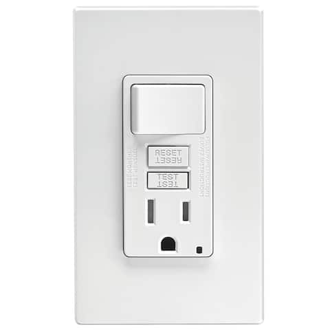 Leviton GFCI Receptacle 15 amps 5-15R 125 volts White