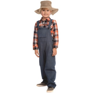Dress Up America Boys Multicolor Polyester Farmer Costume