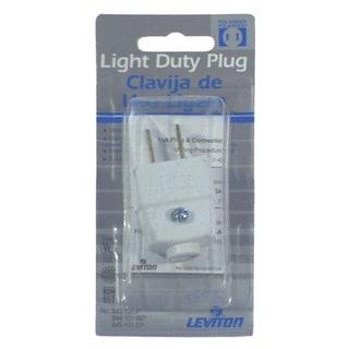 Leviton C22-00101-0WP White Residential Grade Straight Blade Polarized Plug