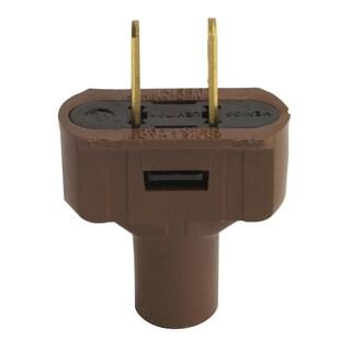 Leviton C20-48643-000 Brown Residential Grade Straight Blade Non-Polarized Plug