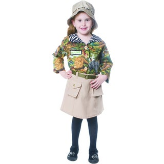 Dress Up America Girls' Safari Polyester Costume