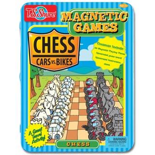 Chess Magnetic Game Tin � Cars vs. Bikes Theme
