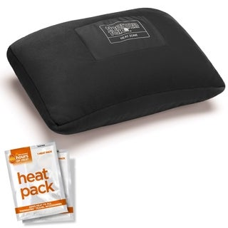 ThermaTek Black Polyester Heated Personal Travel Pillow