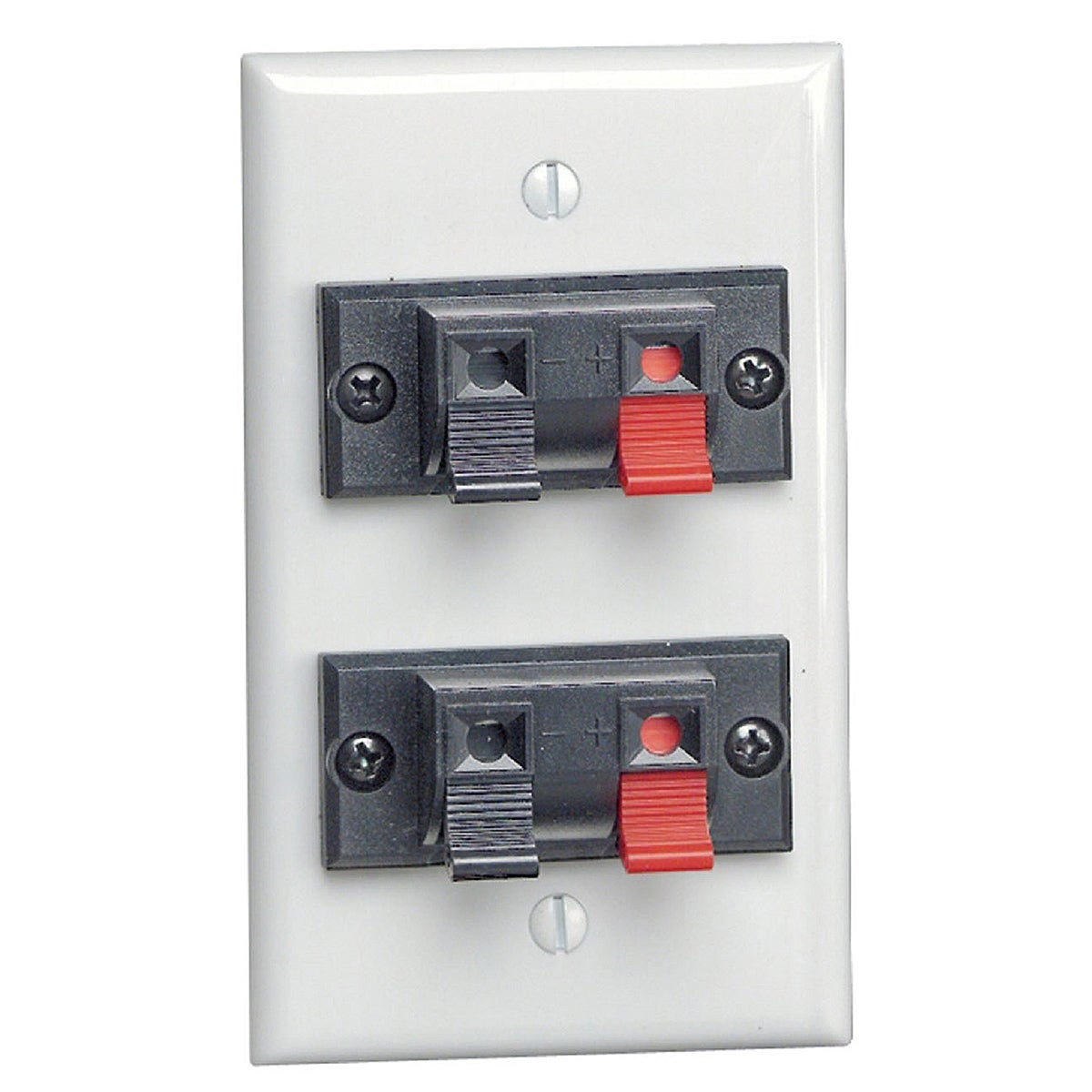 Leviton 634-40952-2PW Dual Speaker Wall Plate (Other elec...