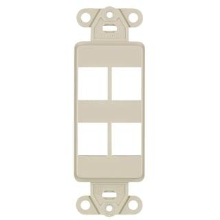 Leviton 631-40754-WBR Almond Color 4-Port Insert