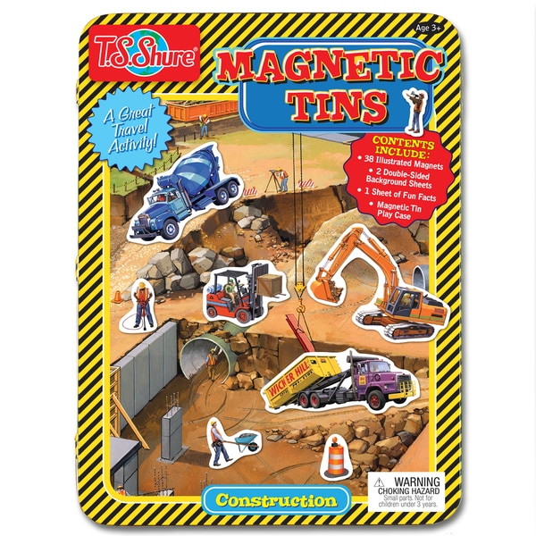 T.S. Shure Construction Magnetic Tin Play Set