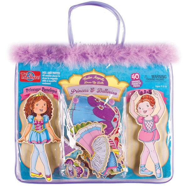 Princess and Ballerina Wooden Magnetic Dress-Up Dolls