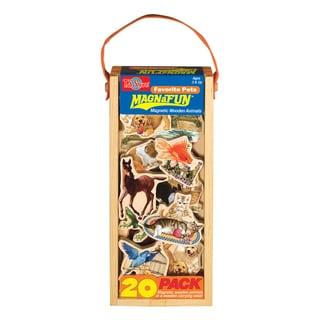 Favorite Pets Wooden Magnets 20 Piece MagnaFun Set