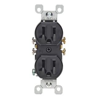 Leviton 232-05320-ECP 15 Amp Black Duplex Receptacle