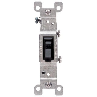 Leviton 232-01451-02E 120 Volt Black AC Quiet Switch