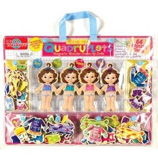 Teeny Tiny Quadruplets Wooden Magnetic Dress-Up Dolls