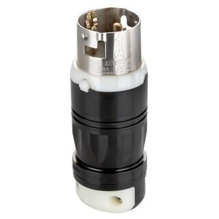 Leviton 100-CS636-05C 125/250 Volt Black and White Locking Plug