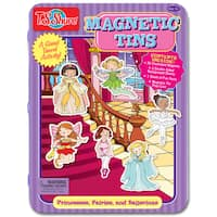 Princesses, Fairies and Ballerinas Magnetic Tin Playset