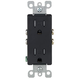 Leviton 202-T5325-00E Black 15 Amp 125 Volt Tamper Resistant Grounding Receptacle