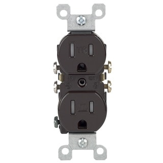 Leviton 200-T5320-000 Brown 15 Amp Duplex Receptacle