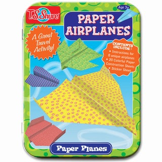 T.S. Shure Paper Airplanes Creative Activity Mini Tin