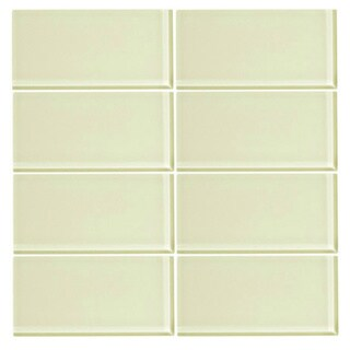 Vicci Design Glass 3-inch x 6-inch Subway Tile