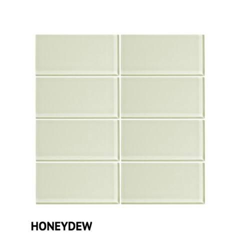 "Vicci Design Glass 3"" x 6"" Subway Tile"