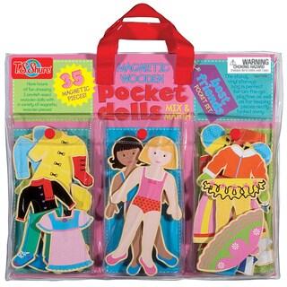 Pocket Dolls Best Friends Wood Magnetic Dress-Up Dolls