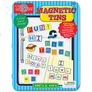 T.S. Shure Alphabet and Numbers Magnetic Tin Play Set