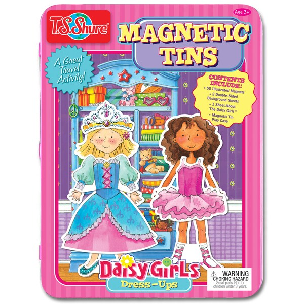 T.S. Shure Daisy Girls Dress-Ups Magnetic Tin Play Set