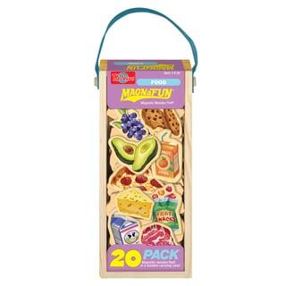 T.S. Shure Food Wooden Magnets 20 Piece MagnaFun Set