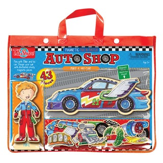 Auto Shop Mike and His Car Magnetic Action Hero