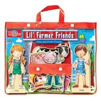 Lil'Farmer Friends Fran and Frank Wood Magnet Dress-Up