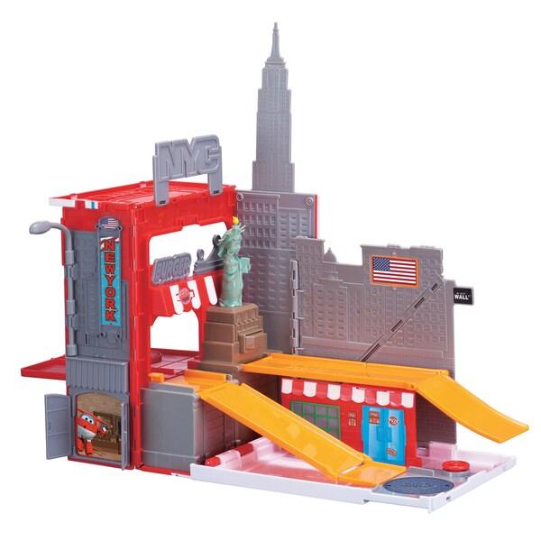 Auldey Toys Super Wings New York Pack 'n Go Playset