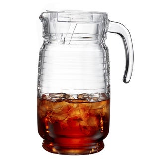 Uptown Glass 64-ounce Clear Pitcher with Lid