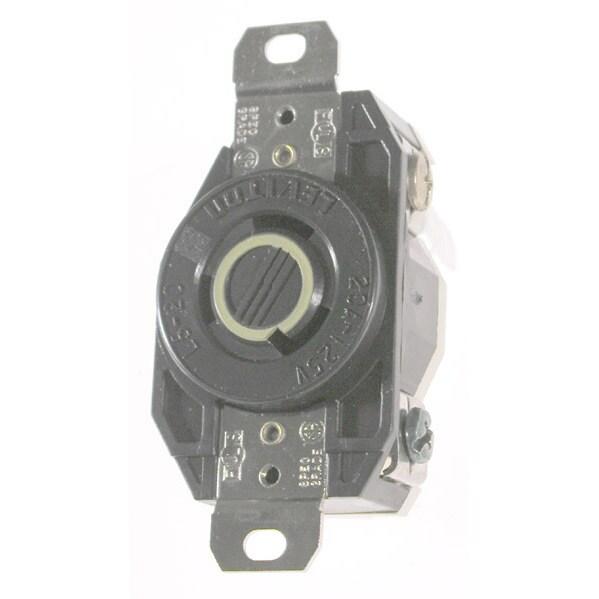 Leviton 065-2310 20A 125V Ind Grade Flush Mount Locking Receptacle Device