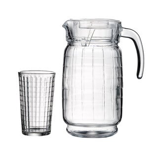 Style Setter Soho Hoboken Clear Glass Beverage Set (Pack of 7)
