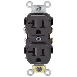 Leviton 050-0BR20-000 Brown 20 Amp Duplex Receptacle