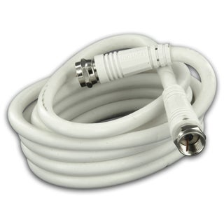 Leviton 031-C6851-03W 3' White RG6 Coax Cable With F Plugs