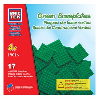 Brictek 17 Green Assorted Baseplates