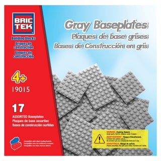 Brictek 17 Grey Assorted Baseplates