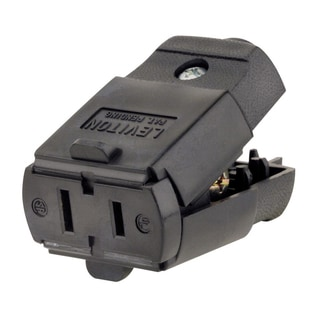 Leviton 017-00102-0EP 15 Amp/125 Volt Black Residential Grade Connector