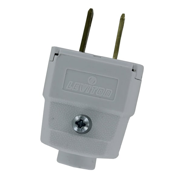 Leviton 016-101WP White Residential Grade Straight Blade Polarized ...