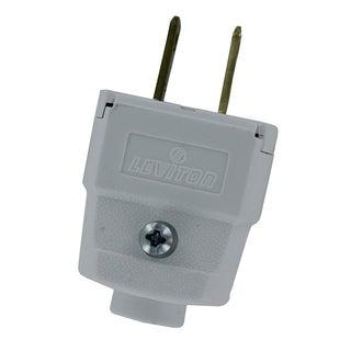 Leviton 016-101WP White Residential Grade Straight Blade Polarized Plug