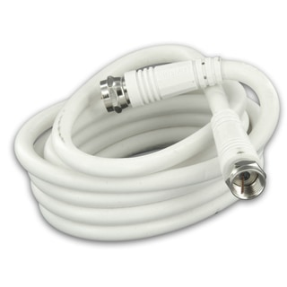 Leviton 012-C6851-06W 6' White RG6 Coax Cable With F Plugs