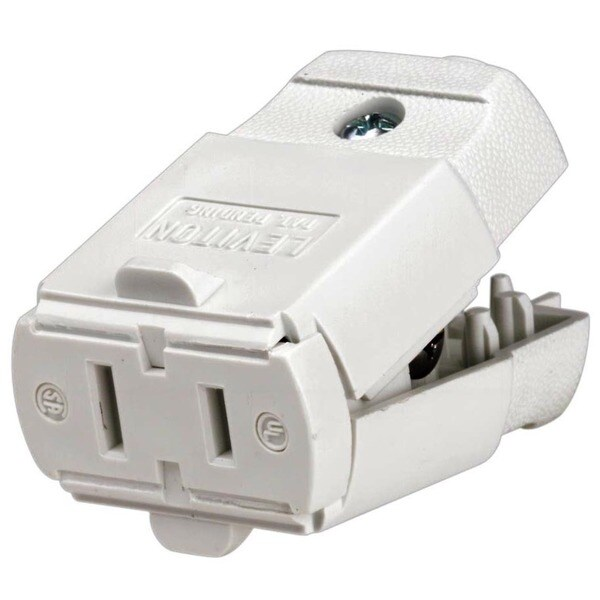 Shop Leviton 016-00102-0wp White 15 Amp Connector