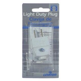 Leviton 015-101P Brown Residential Grade Straight Blade Polarized Plug