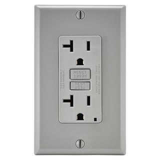 Leviton 013-GFTR2-0GY 20 Amp Grey SmartlockPro Self-Test GFCI