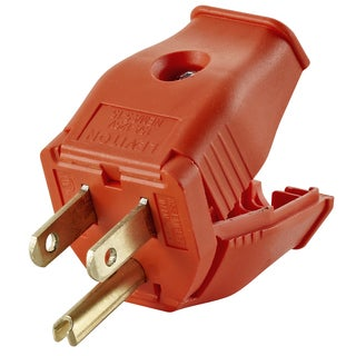 Leviton 003-3W101-0OR 2 Pole 3 Wire Orange Grounding Plug