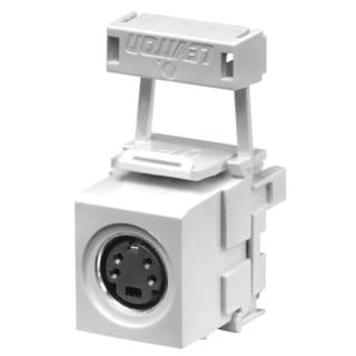 Leviton 002-40734-CVW White S Video QP