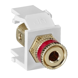 Leviton 002-40833-BWR Red Stripe Post RCA
